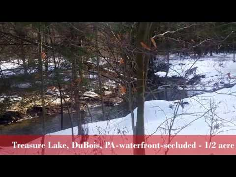.5 acre waterfront lot - Treasure Lake, DuBois, PA - Secluded NEW PRICE: $20K