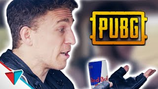 Drinking an energy drink while driving in PUBG