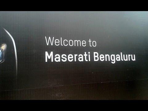 Maserati showroom's grand opening in Bangalore