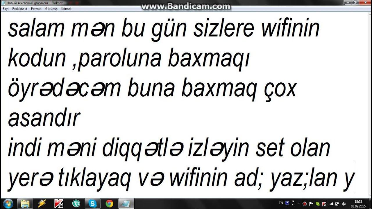 Wifi Paroluna Baxmaq