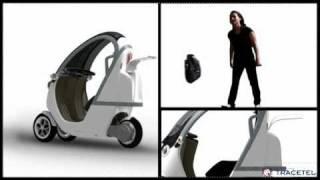 WHOOP, tricycle urbain à moteur électrique.