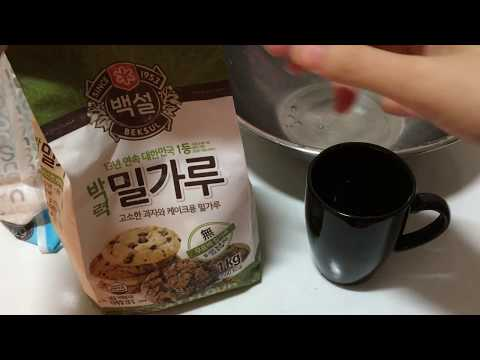 밀가루 활용 ~기름때 제거 !! 천연 주방 세제 �