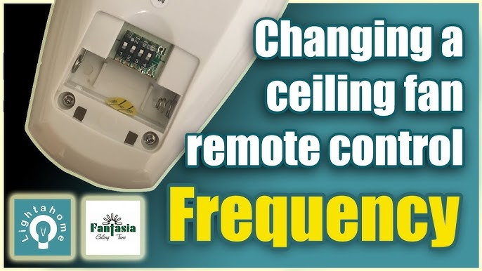 Change The Frequency Of A Ceiling Fan Remote Control Youtube