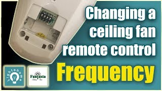 Change the frequency of a ceiling fan remote control