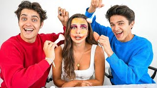 The Guys Try Doing Pierson's Makeup!