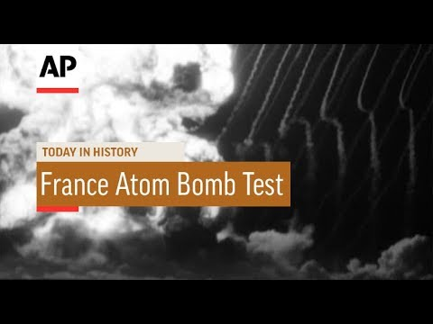 France Tests Atom Bomb - 1960 | Today In History | 13 Feb 18