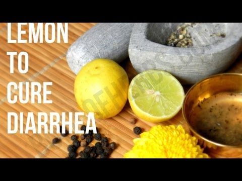 How to use lemon to cure diarrhea - Tutorial