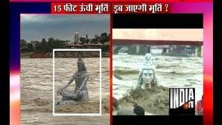 Lord Shiva Idol Washed Away in Rishikesh - India TV