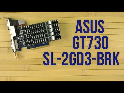 Распаковка Asus GT730-SL-2GD3-BRK