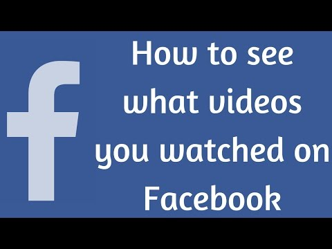 How to search what videos you have watched on Facebook from YouTube · Duration:  1 minutes 17 seconds