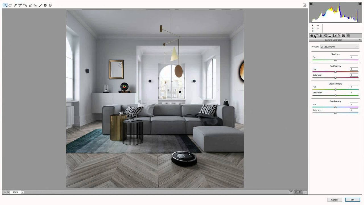 Post-Production interior render in Photoshop