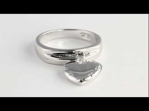 Personalized Heart Charm Ring. http://bit.ly/377csoh