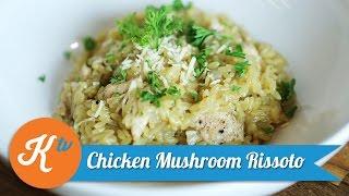 Resep Chicken Mushroom Risotto   PUPUT CAROLINA