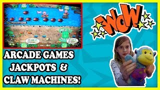 Claw Machines, Jackpots, and BONUS WINS at the Arcade Games at Safari Quest!  Tons of Tickets!