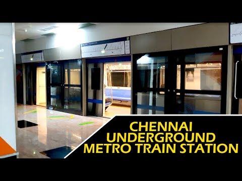 Underground Metro Station In Chennai