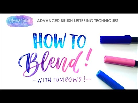 How to Blend with Tombows (2 methods!)