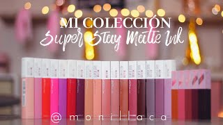 MI COLECCIÓN DE SUPERSTAY MATTE INK DE MAYBELLINE (SWATCHES) | MONILLACA