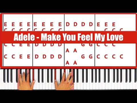 ♫ EASY - How To Play Make You Feel My Love Adele Piano Tutorial ...