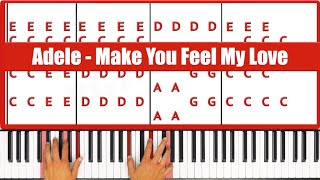 ♫ EASY - How To Play Make You Feel My Love Adele Piano Tutorial Lesson - PGN Piano