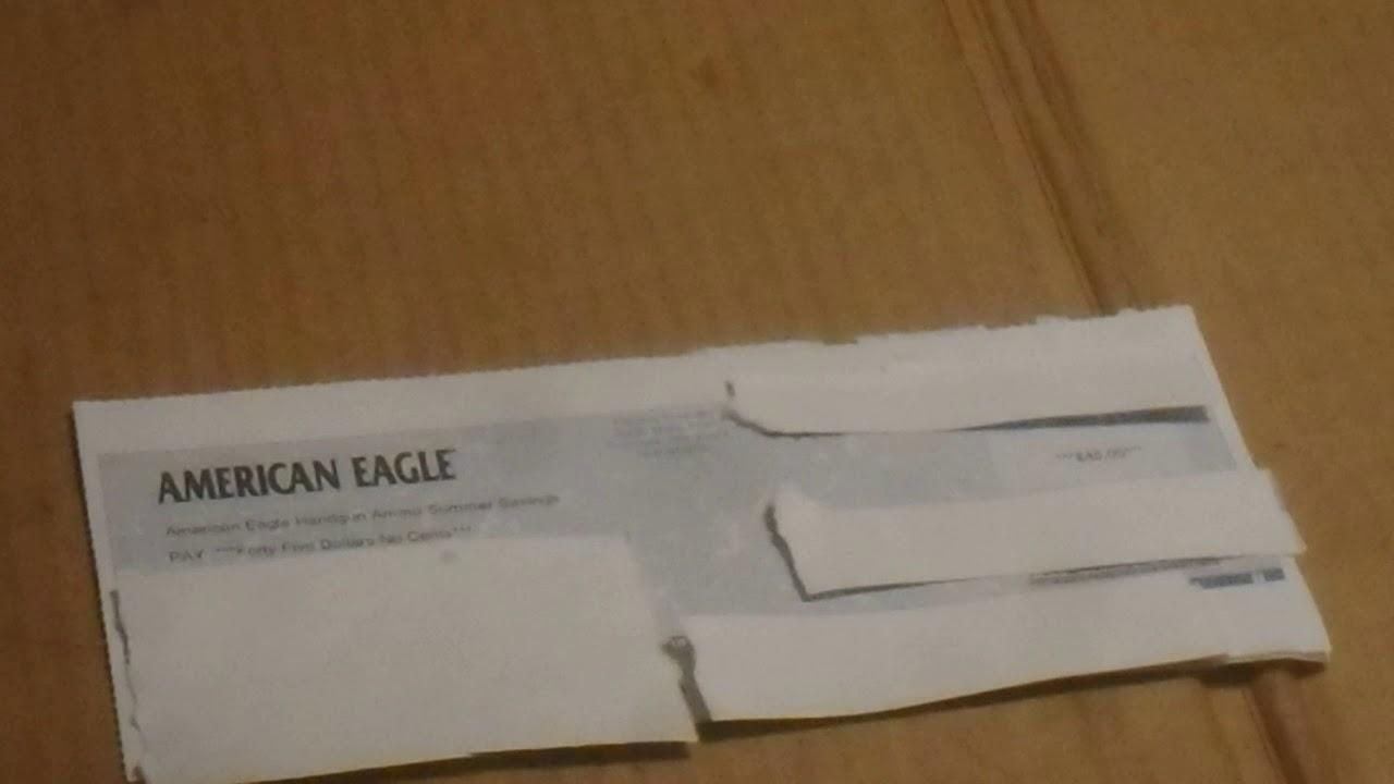 American Eagle Rebate >> Federal American Eagle Rebate Check Youtube