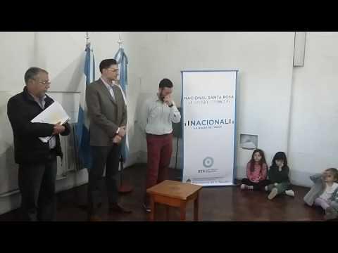 Asunción de Dittler en Radio Nacional Santa Rosa