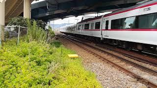 名鉄1700系、1702f、快速特急豊橋行き、国府駅通過