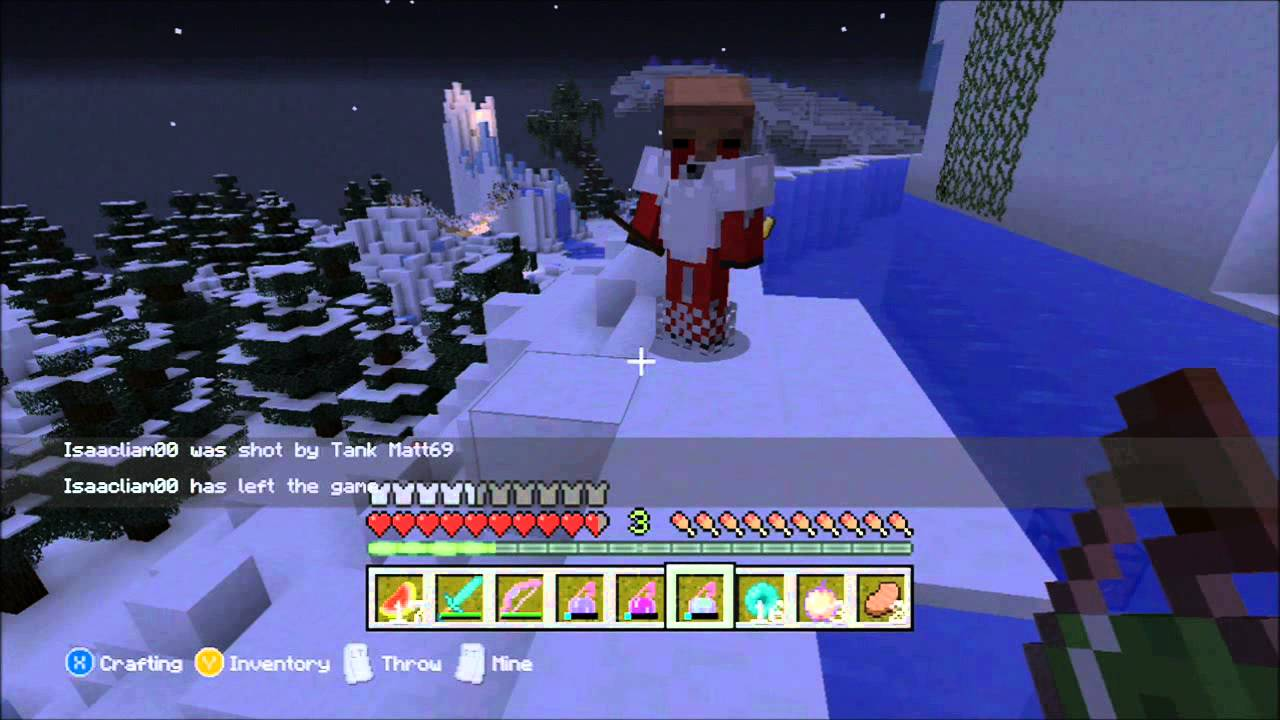 Minecraft (Xbox360) Jurassic Lights Out Hunger Games- Lets