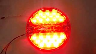 Baklykta LED röd/gul rund