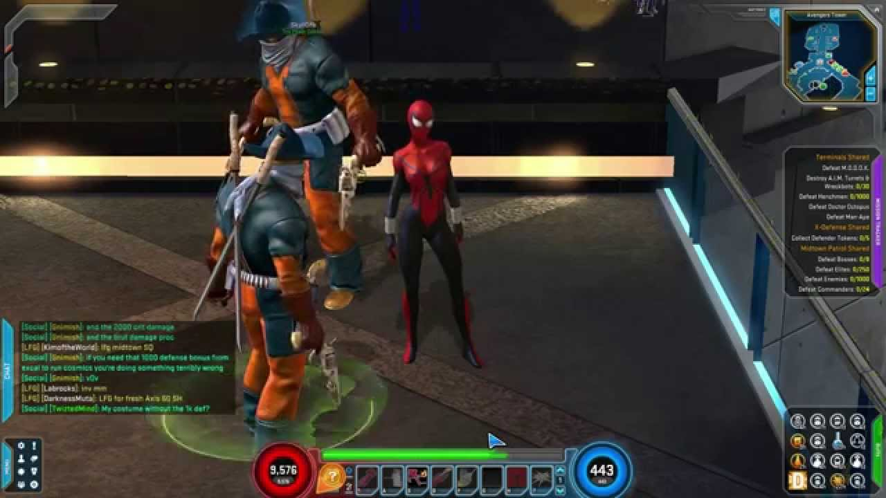 Marvel Heroes - Spider-Girl Gameplay (With The Deadpool Kid Team-Up)