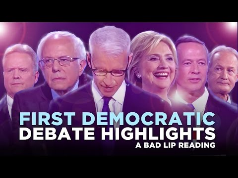 "Thumbnail: ""FIRST DEMOCRATIC DEBATE HIGHLIGHTS: 2015"" —- A Bad Lip Reading of the First Democratic Debate"