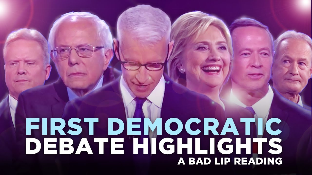 first democratic debate highlights 2015 a bad lip reading of