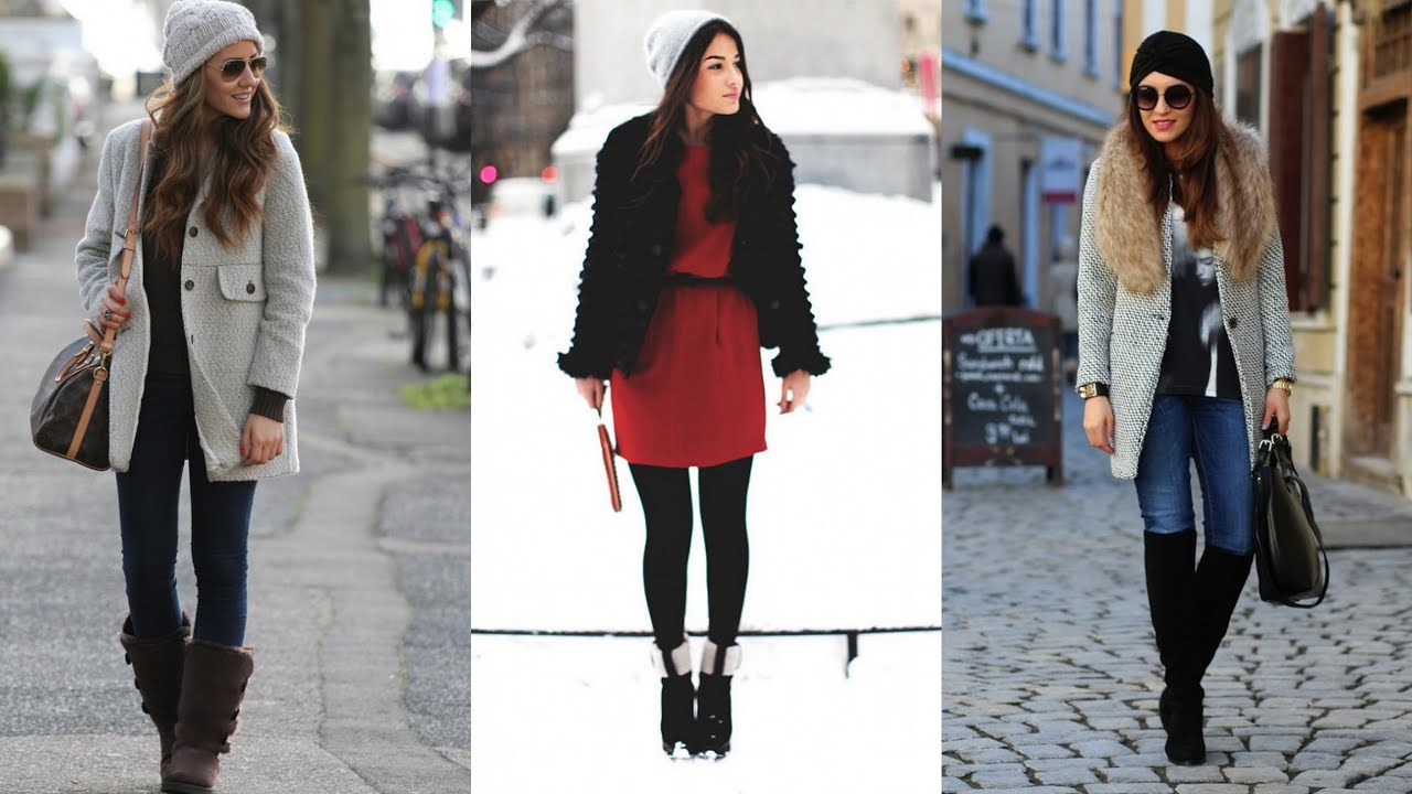 Modern And Fashionable Winter Street Style Outfits Youtube