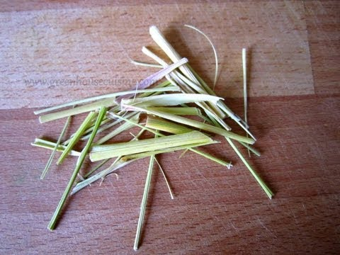 lemongrass -how to dry and store