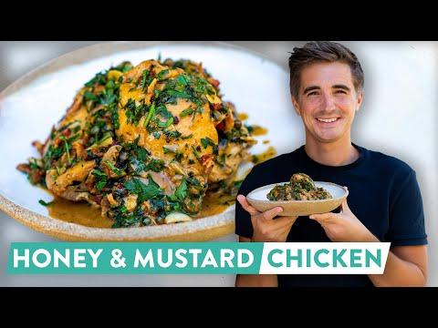 RECIPE: ONE PAN Juiciest Honey & Mustard Chicken!