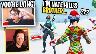 I found Nate Hill's BROTHER in Fortnite and we KILLED FaZe Members... (hilarious)
