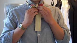 how to tie a reversible bowtie