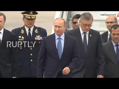 Peru: President Vladimir Putin arrives in Lima for APEC