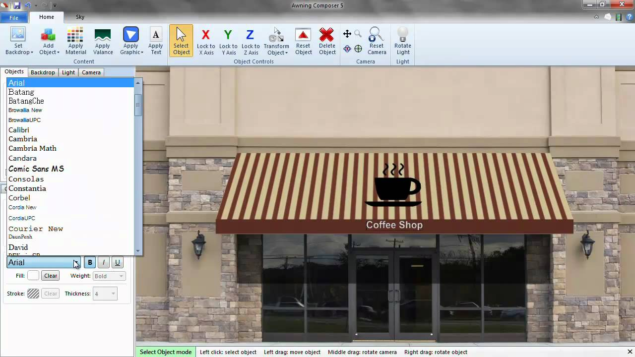 Delightful Awning Composer 5 Quickstart Guide Part 3