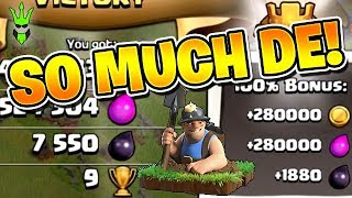 SO MUCH DARK ELIXIR! - Road to Max 11 - TH11 Queen Walk Miner Farming - Clash of Clans