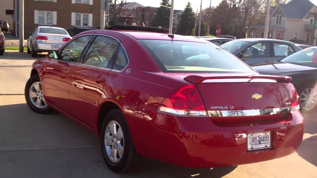2008 Chevy Impala 4 Dr Lt Red An Ready Sycamore Il Near