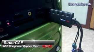 supercap conexant polaris component ypbpr usb video capture card