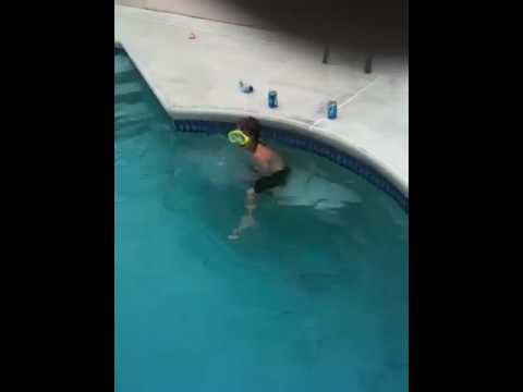 Zach Swimming In The Deep End Of The Pool Youtube