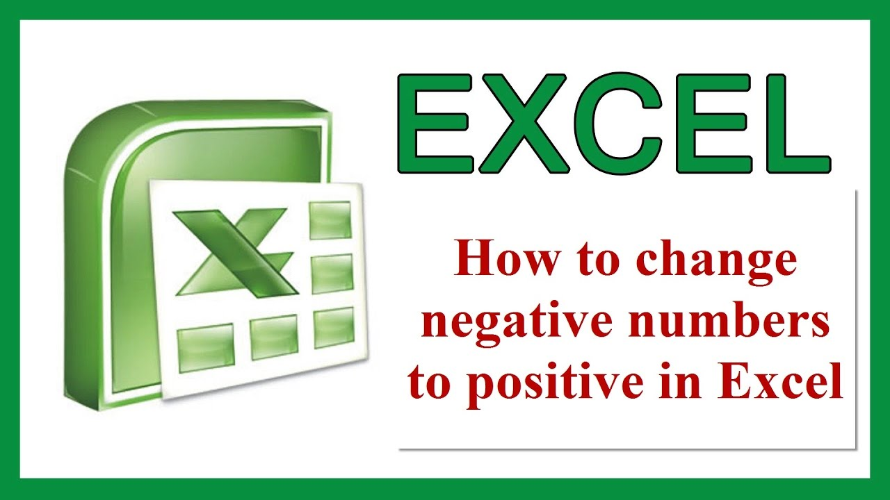 How to make an excel column negative - How To Make An Excel Column Negative 40