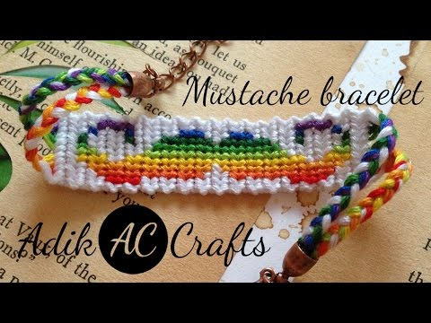 Mustache friendship bracelet tutorial
