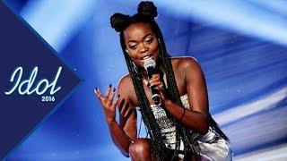 Renaida Braun sjunger Välkommen In i Idol 2016 - Idol Sverige (TV4)