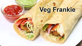 बाज़ार जैसी वेज फ्रैंकी की सबसे आसान रेसिपी | Vegetable Frankie | Veg Frankie Roll | KabitasKitchen
