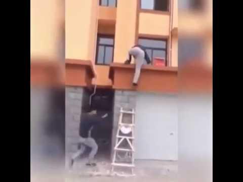 Прикол! где лестница?