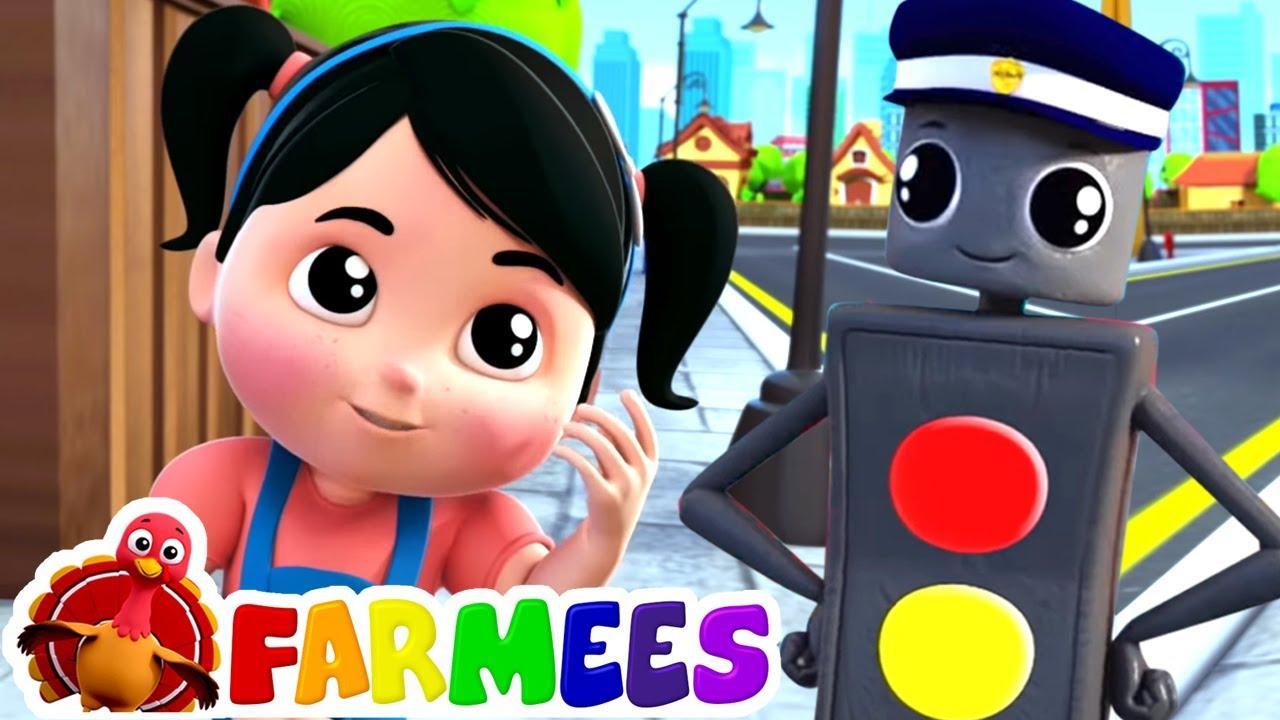 Sinyal lalu lintas | Lagu anak anak | Kartun untuk anak | Farmees Indonesia | Video edukasi anak