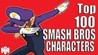 TOP 100 SUPER SMASH BROS CHARACTERS