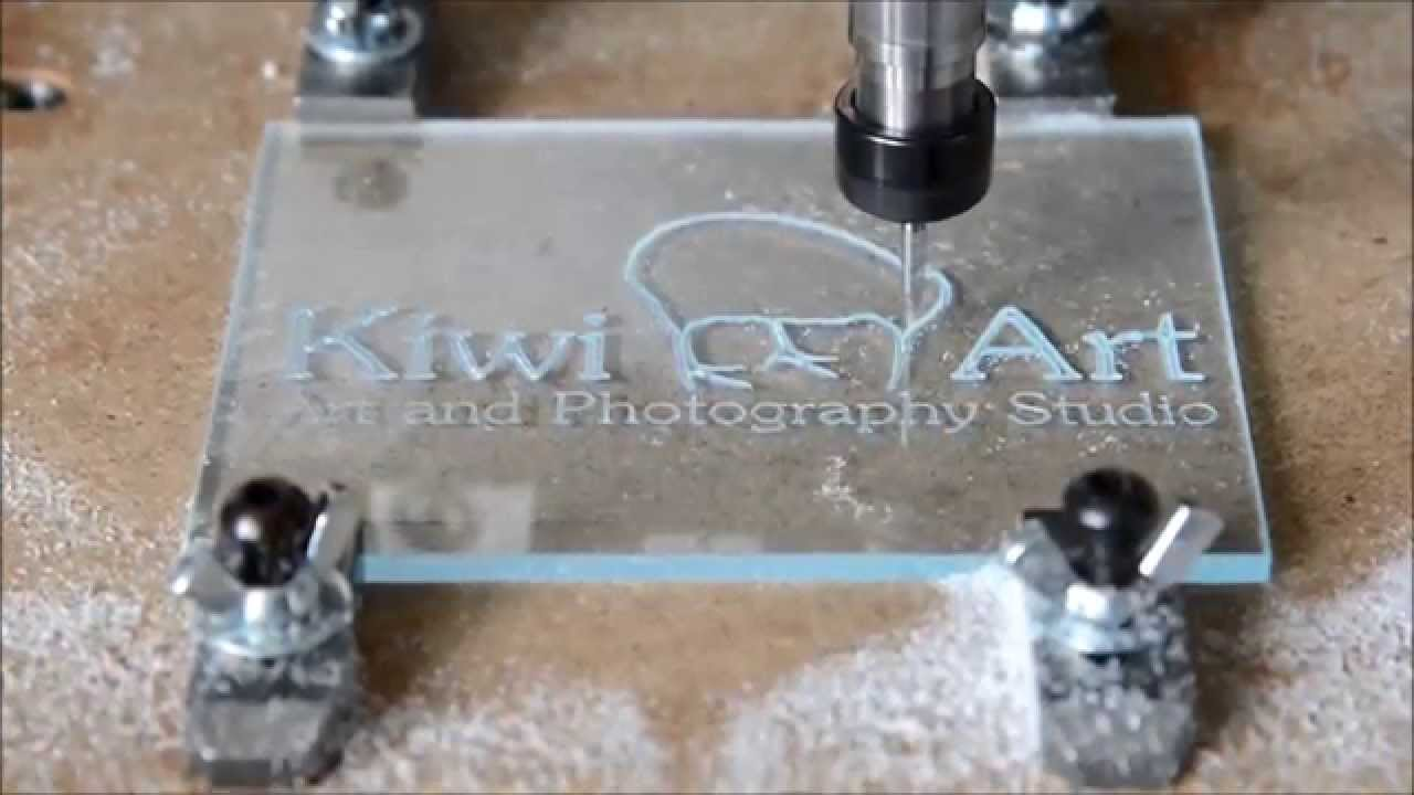 Making An Acrylic Sign With My Diy Cnc Youtube